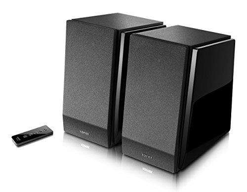 edifier pc lautsprecher Edifier R1800BT Studio Bluetooth-Regal Lautsprecher (70 Watt) mit Infrarot-Fernbedienung für Fernsehen/PC/Notebook/Tablet/Smartphone schwarz