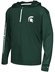 """Michigan State Spartans Youth NCAA """"Sleet"""" 1/4 Zip Pullover Hooded WindShirt Chemise"""