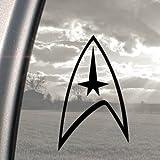 Star Trek schwarz Aufkleber Truck Bumper Window Vinyl Aufkleber