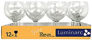 luminarc 8812068 verres pied ballon 25 cl lot de 12 cuisine maison. Black Bedroom Furniture Sets. Home Design Ideas