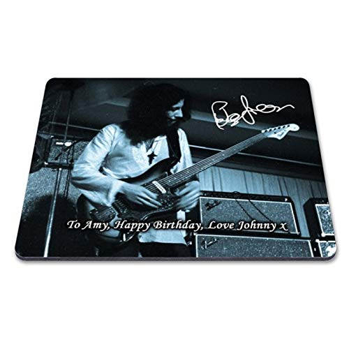 Fleetwood Mac - Peter Green 1 Personalised Gift Print Mouse Mat Autograph Computer Rest Mouse Mat Compatible with Laser and Optical Mice (with Personalised Message)