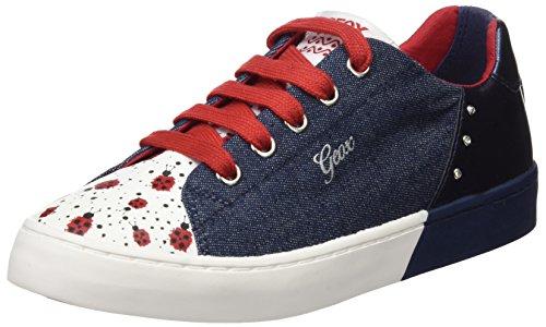 Geox Mädchen JR Ciak Girl D Sneaker, Blau (Jeans/Navy), 36 EU