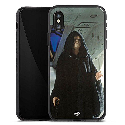 Apple iPhone X Silikon Hülle Case Schutzhülle Star Wars Merchandise Fanartikel Darth Sidious Silikon Case schwarz