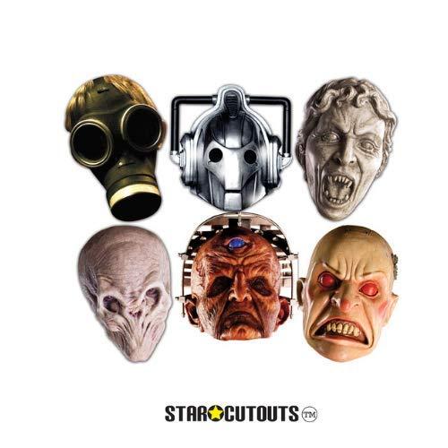 Star Einbauöffnungen smp70Doctor Who Monster Maske aus Pappe (Pack von 6)