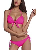 DJT - 2 pcs de Maillot de bain Bikini Trikini Femme Fille Push Up Bustier Rembourse