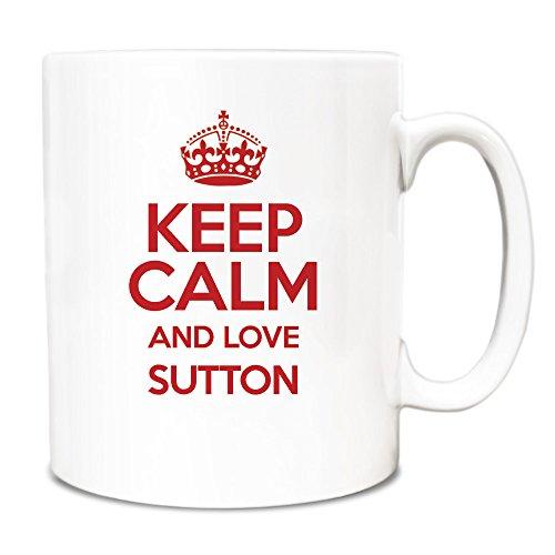 RED Keep Calm and Love Sutton Tazza TXT 0638-Stivaletti alla caviglia