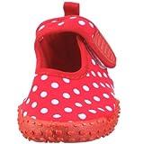 Playshoes Aquaschuhe, Badeschuhe Punkte mit höchstem UV-Schutz nach Standard 801 174776, Mädchen Aqua Schuhe, Rot (original 900), EU 24/25 - 4