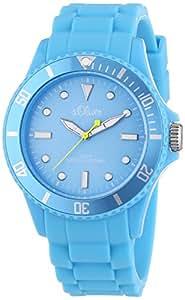 s.Oliver Unisex-Armbanduhr Medium Size Silikon Neon Blau SO-2329-PQ