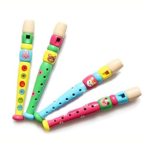 Naisicatar kleines Plastik Blockflöten Bunte Piccolo Flöte Kids Musical Lernspielzeug für Kinder,...