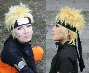 Naruto cosplay wig costume NARUTO tool yellow blonde wig with a net spiral WIG (japan (Naruto Cosplay Uk)