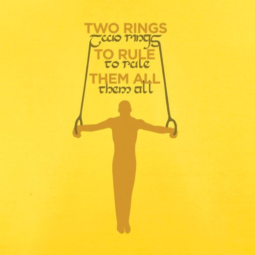 Two Rings To Rule Them - Herren T-Shirt - 13 Farben Gelb