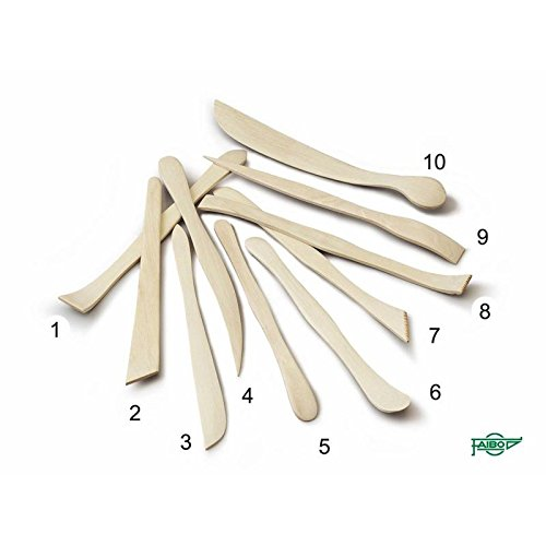 Faibo Palillos de madera para modelar (20 cm.)
