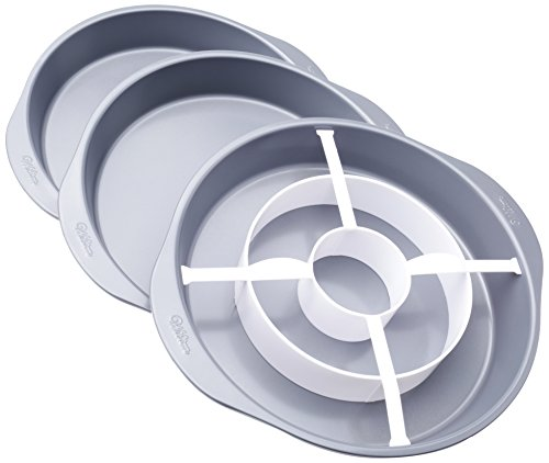 Wilton 2105-9961 Checkerboard Round Cake Set Backform, Aluminium, silber, 22.8 x 22.8 x 3.8 cm