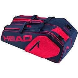 Head Core 6R Combo bolsa para raquetas de tenis, color azul oscuro y rojo, tamaño talla única