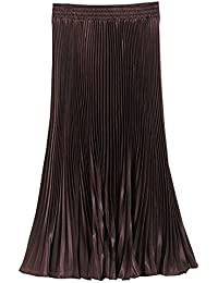 af789125621 BOZEVON Womens Ladies Summer   Winter Boho Pleated Skirt A-line Midi Skirts