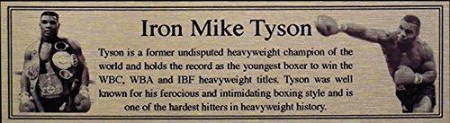 Mike Tyson Oro Targa Di Metallo Targhetta Per Autografato Guantoni Da Boxe o Boxer - Autografato Metallo