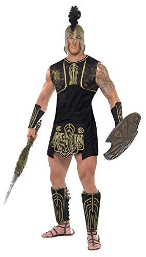 Smiffys Herren Achilles Kostüm, Tunika, Gürtel, Stulpen und Beinschutz, Größe: L, 26107