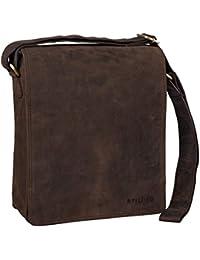 STILORD  Lars  Borsa uomo in pelle a tracolla Messenger A4 piccola  verticale Borsello vintage A4 grande per Tablet… 377d1a9a694