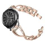 TianranRT Edelstahl Watch Band Handgelenk Armband Armband für Samsung Galaxy ArmbandWatch 46mm (Roségold)