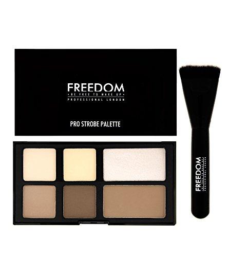 Freedom Makeup London - Illuminateur et contour palette Pro Strobe poudre avec pinceau contouring