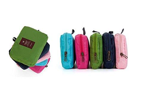 YYY-Pack pelle viaggio pieghevole zaino grande capacità spalla portatile all'aperto uomini e donne alpinismo borsa nuova , green watermelon powder