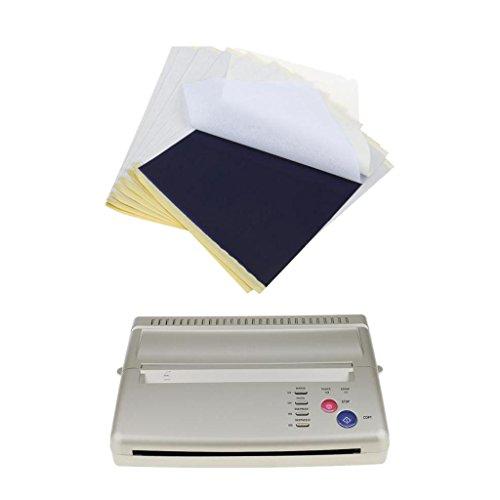 Homyl Thermodrucker Tattoo Thermo Kopierer Tattoo Transfer Printer Maschine und 10x Papier