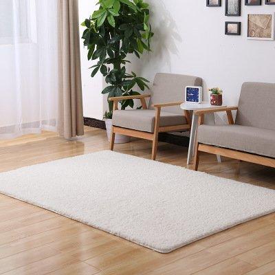 GRENSS Berber Fleece Magic rutschsichere Fußmatte Tapete para Quarto Schlafzimmer Oval Teppich Fußmatten Bett Teppiche, weiß, 100 x 120 cm -