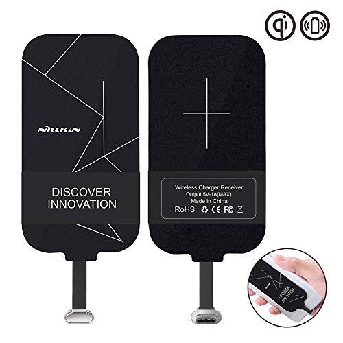 Nillkin Qi Empfänger USB C, dünn Wireless Charging Qi Receiver, Type C Induktions Ladegerät Empfänger, Induktives Laden für Galaxy A50, Huawei P30, Y6 2019 und Andere Type-C Android-Handy