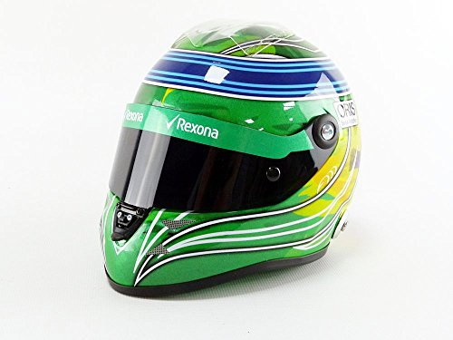 Mini Helmet-Coche en Miniatura de colección, 9087001229, Azul/Verde/Amarillo