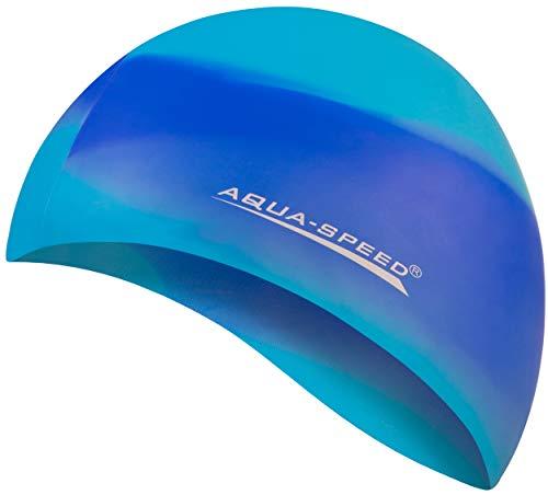 Aqua Speed Badekappe Herren   Silikon   Bademütze   Badehaube   Mehrfarbig + Aufbewahrungstasche Bunt / 81