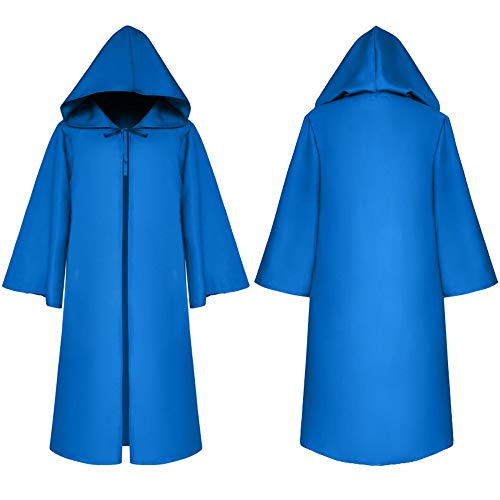 JYJSYM Halloween, Todesumhang Mittelalterliches Cape Kinderkostüm Blau, -