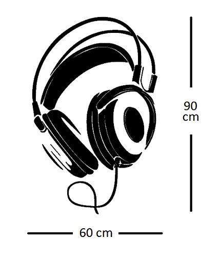 Adesivo da parete decalcomania Vinile Etichetta decalcomanie Cuffie Musica Gli appunti Beats Audio Vita Camera removibile PVC Sfondo Casa arredamento Applique documenti Murale
