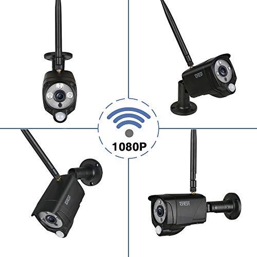 Tonton Full HD 1080P Funk Überwachungskamera 2.0 MP WLAN Ersatzkamera für Wireless NVR System, 3,6mm Linse, Super 30M Nachsicht PIR Sensor Metallgehäuse (Addon Kamera für 1080P WLAN NVR System) Wirless System