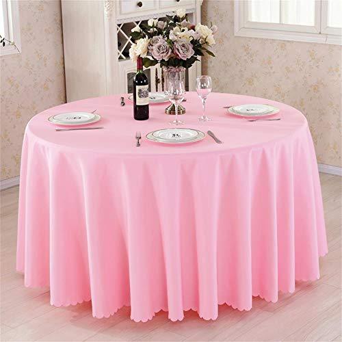 Rosa Runde Hotel Round Table Cloth Restaurant Hochzeit Tischdecke Konferenztisch Abdeckung...