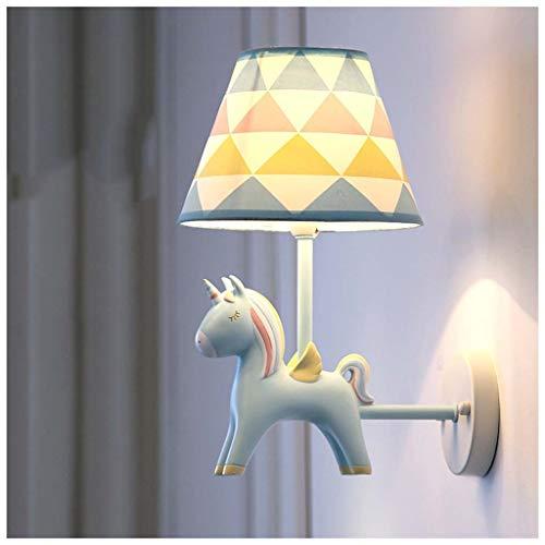 Habitación infantil niña lámpara de pared unicornio LED dormitorio/lámpara de noche/sala de estar/pasillo...