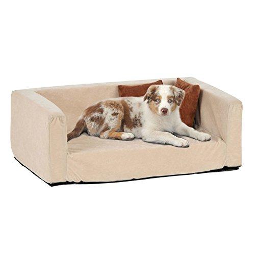 Silvio Design Hundebett, Hundeliege, Hundesofa Buddy Velour-Optik, Maße: ca. 42 x 70 x 25 cm - 2