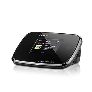 Albrecht DR52CA Adapter zum Aufrüsten von HiFi-Anlagen und UKW-Radios zum digitalen DAB+ Empfang, mit Farbdisplay und Antenne, Farbe: Schwarz
