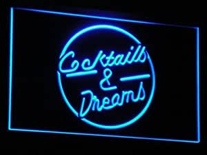 ADV PRO i079-b Cocktails & Dream Beer Bar Wine Neon Light Sign Barlicht Neonlicht Lichtwerbung