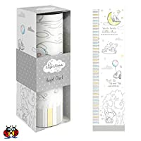 Ladybirds Height Measurement Chart Toddler Childrens Height Chart Soft Unisex Colours. 50cm - 130cm. in Gift Box