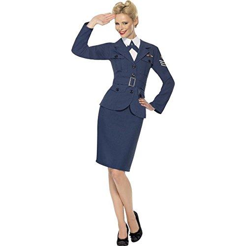 Smiffys Damen Kostüm WW2 Air Force Soldatin Uniform Karneval Fasching Gr.L - Air Force Uniform
