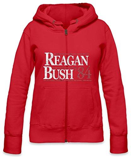 Vintage Reagan Bush Womens Zipper Hoodie X-Large (Reagan-bush-tank-top)