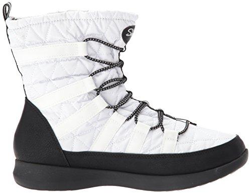 Damen Skechers Villa Casale Stiefel Weiß Boulder Schwarz dCxBroeWQ