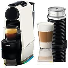 Nespresso Essenza Mini Coffee Machine with Aeroccino, Pure White by Magimix