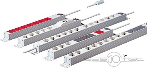 RITTAL DK Steckdosenleiste D Schuko 5-fach 250 V 16 A LHT 482 6x44x44 mm mit FI-Schalter
