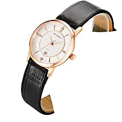 Ladies slim watch/Simple casual female form/Quartz water resistant watch-D