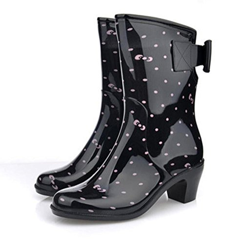 SIHUINIANHUA High Heels Regen Stiefel/Damen Regen Stiefel/Schuhe Schuhe, 1, 36