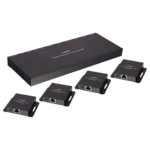 Lindy 50m Cat.6 4 Port HDMI & IR Splitter Extender - Digital/Display/Video - Netzwerk 4-port Hdmi Video