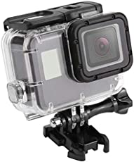 Caldipree 45m Diving Water Resistant Removable Housing Case for Gopro Hero 5/6 Sports Camera