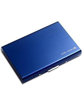 Cartera de Acero Inoxidable Cepillado para un estilo elegante y profesional. Protección superior para tus tarjetas...