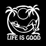 tonywu Coche Pegatina Etiqueta Personalidad Creativa Buena Vida Protector Solar Impermeable Coche Decoración Puerta Coche Pegatina De Vidrio De La Cola 11.5 X 11.5 CM B 2PCS